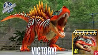 BATTLE & FEEDING METRIACANTHOSAURUS || Jurassic World The Game