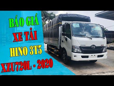 Báo giá xe tải Hino 3.5 Tấn Thùng Mui Bạt   giá xe tải Hino 3T5 lăn bánh ?