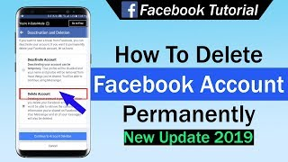How To Delete Facebook Account Permanently 2019