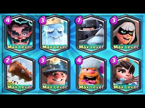NEW MAX ROYAL GHOST! FULLY MAXED ALL LEGENDARY DECK! | Clash Royale | MAX NEW CARDS GAMEPLAY!