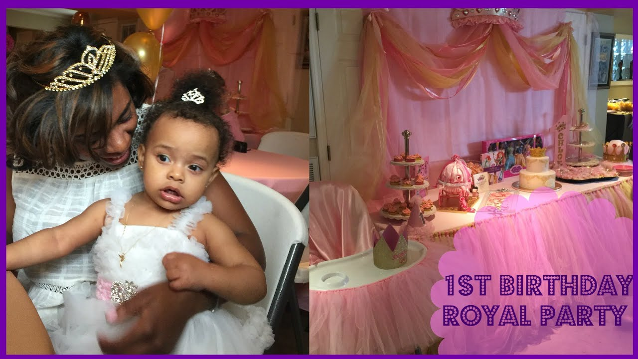 Baby Girl First Birthday Party Decoration Ideas Royal Party Theme