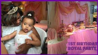 Baby Girl First Birthday Party Decoration Ideas (Royal Party Theme) / Happy Birthday, Chloe!!
