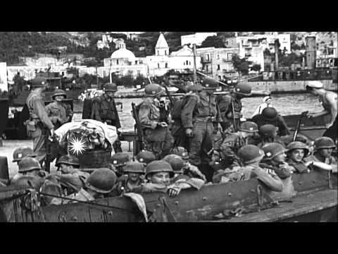 Cobra' Division (3rd Div) and 'Cook' Regiment (16th Infantry Division) troops boa...HD Stock Footage