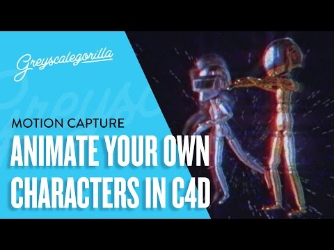Cinema 4D Tutorial - Add Your Own Character To Motion Captur