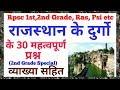 राजस्थान के दुर्गो के 30 महत्वपूर्ण प्रश्न व्याख्या सहित✔️