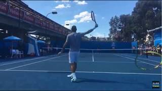 Roger Federer Practice Session in Slow Motion (Australian Open) - Sports TV