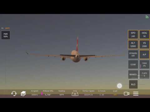 Infinite Flight- KNUC (San Clemente Island)to KPSP (Palm Springs) with a Swiss Airbus A330-300