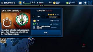 My first episode of nba live mobile