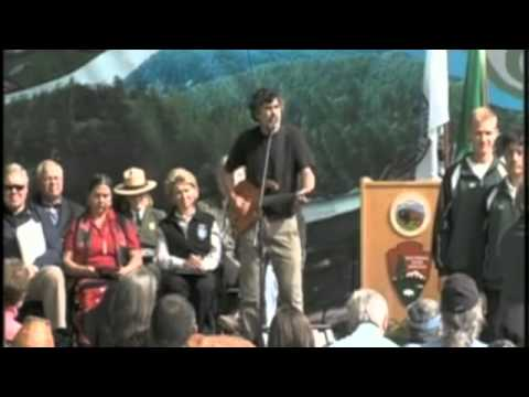 Dana Lyons Performs at Elwha Dam Removal Ceremony