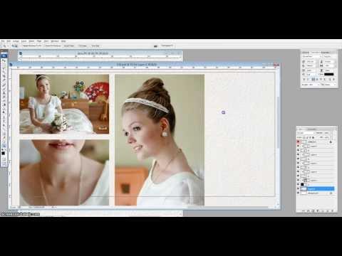 Как создать макет фотокниги в фотошопе видео