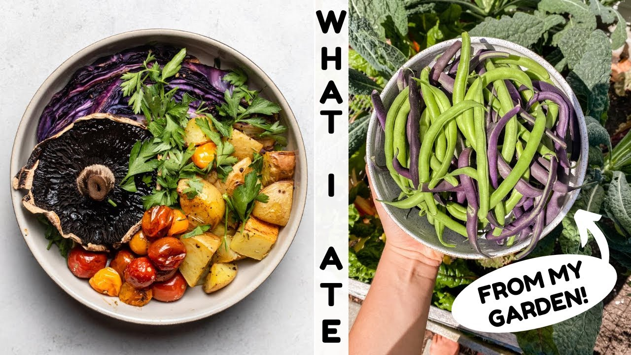 What I Ate From My GARDEN!  (Vegan)