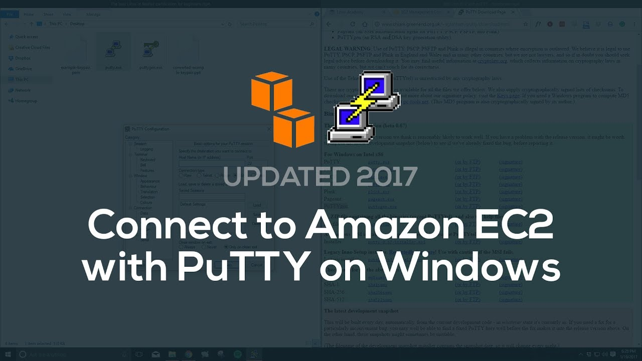 How to connect to EC2 w/ PuTTY (Windows)