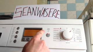 How to turn off the beep on a Bosch Exxcel Washing Machine.