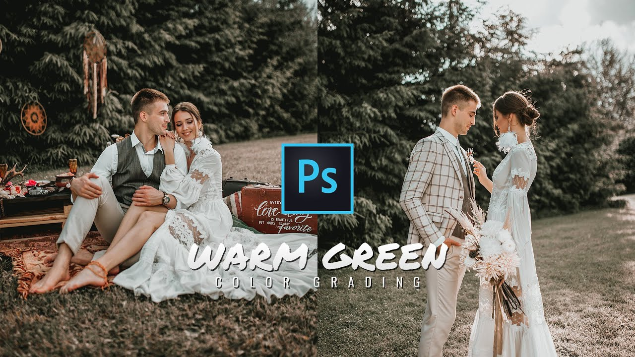 Warm Green Color Grading Effect in Photoshop | Photoshop Tutorial