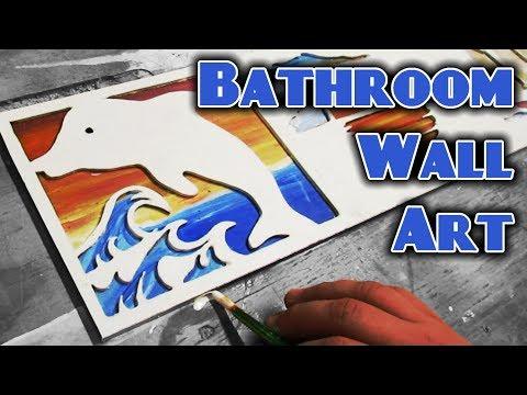 Ocean Themed Bathroom Wall Art - Scroll Saw Project