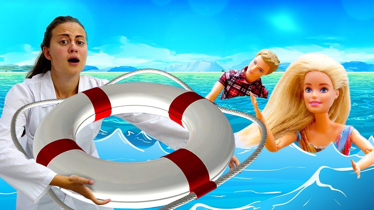Куклы Барби и Кен на море. Видео для девочек про игрушки и ...