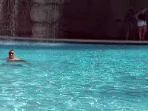 Florida Vacation ... Bob mooning us in pool