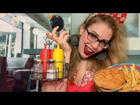 ASMR Lunch In The 80s   Your Best Friends Diner