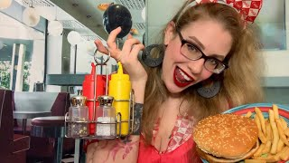 ASMR Lunch In The 80s | Your Best Friends Diner