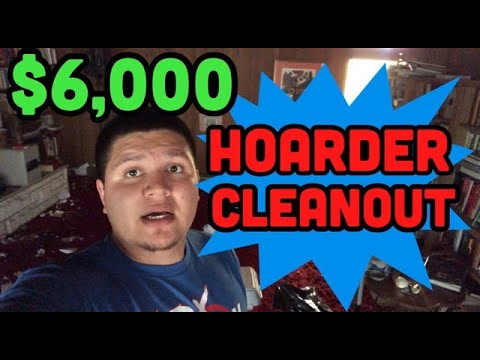 Hoarder House Clean Out! $6,000 : Make great money with Junk Removal (2019)