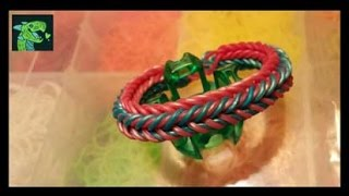 Dragon Scale Triple Threat on Rainbow Loom