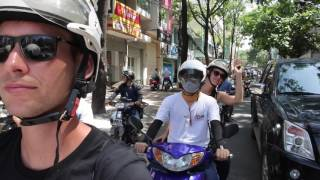 Fun city tour on the back of a motorbike in Saigon