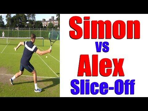 Simon vs Alex - The Slice Off Challenge - Top Tennis Training