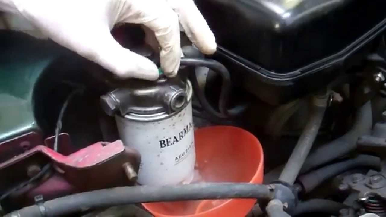 How to change diesel fuel filer on Land Rover Defender 300Tdi 200Tdi  YouTube