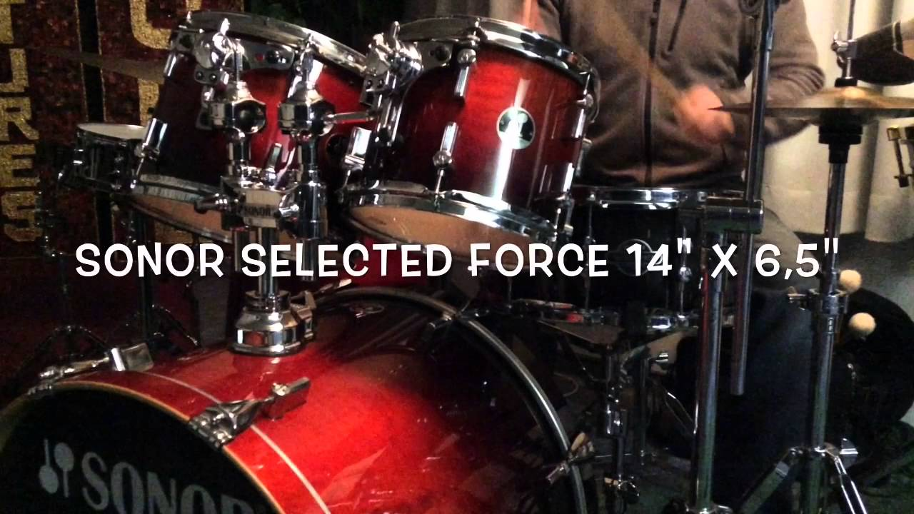21db909fa2f7 Frank Vidal - Sonor Force 3005 Full Maple  Force Selected  Force 2007 Birch  Snares