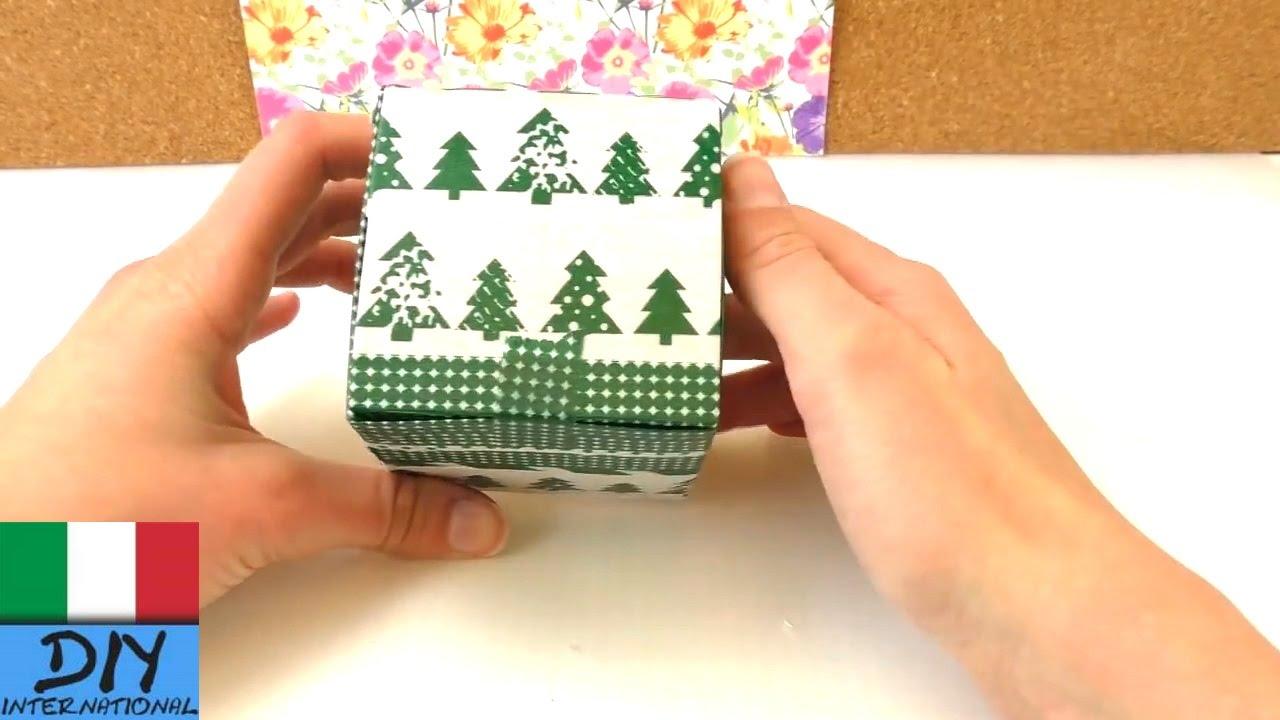 Famoso Scatola di cartone fai da te per lo stoccaggio | Regalo di Natale  DD95