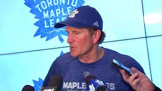 Maple Leafs Practice: Mike Babcock - February 9, 2018
