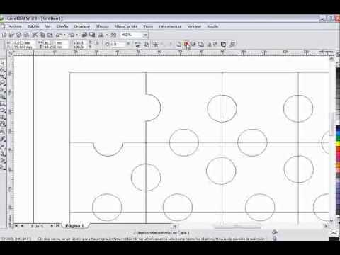 hacer puzzle en coreldraw.wmv - YouTube