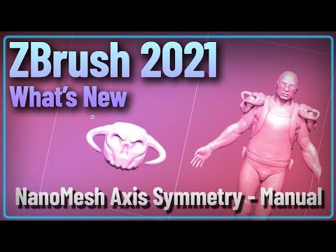 051 ZBrush 2021 Instances - NanoMesh Axis Symmetry Sculpting - Manual Technique