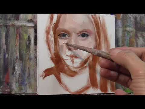 "OIL PAINTING Demo ""Woman"" How to paint people"