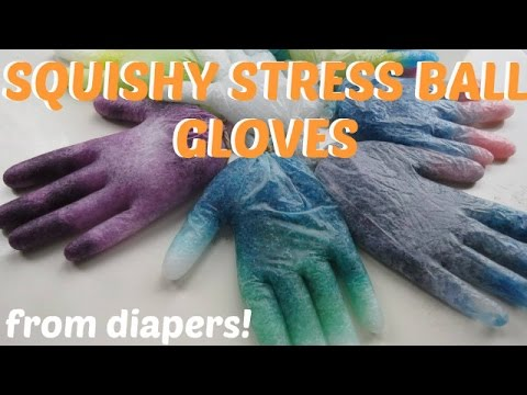 Squishy Stress Ball Out Of Diapers : DIY stress ball using DIAPER!!EASY, CHEAP AND FAST! Doovi