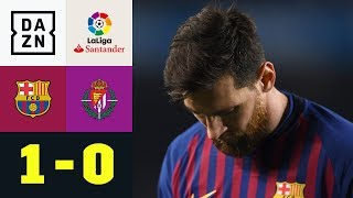 Lionel Messi trifft und vergibt einen Elfer: Barcelona - Valladolid 1:0 | La Liga | DAZN Highlights