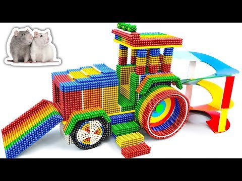 DIY - Building Hamster Rollers Model Playground With Magnetic Balls (Satisfying) - Magnet Balls