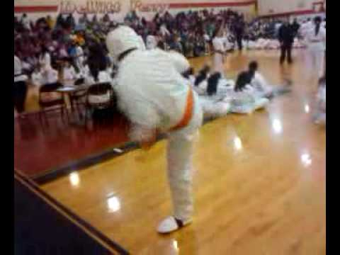 My friend doing a combination at DeWitt Perry Middle School for the Tournament