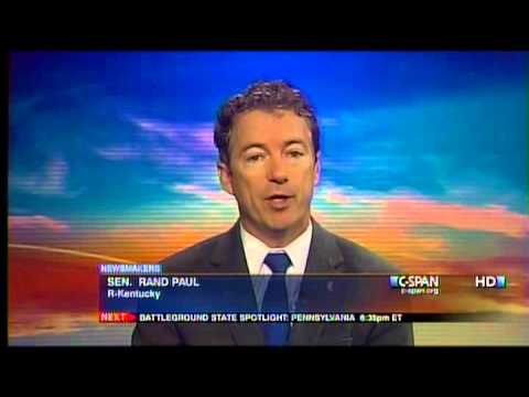 Sen. Rand Paul on C-SPAN's NewsMakers with Steve Scully - 10/28/12