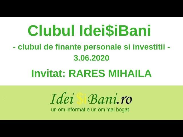 Clubul IdeiSiBani 3.06.2020