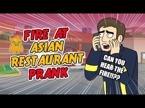 Asian Restaurant Fire Prank