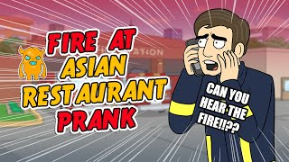 Asian Restaurant Fire Prank