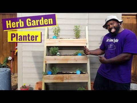DIY Vertical Herb Garden Planter
