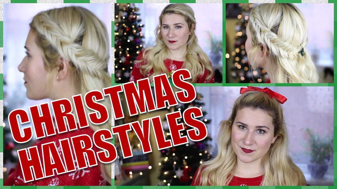 Easy & Last Minute Christmas/Holiday Hairstyles - YouTube