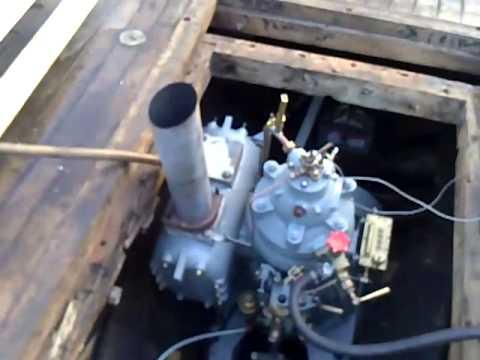 Volda 22 Hk Semidiesel -First start in boat.