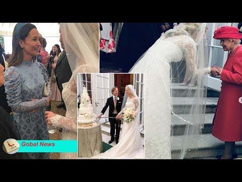 Pippa leads charm of evening reception after beautiful royal wedding of Lady Gabriella Windsor