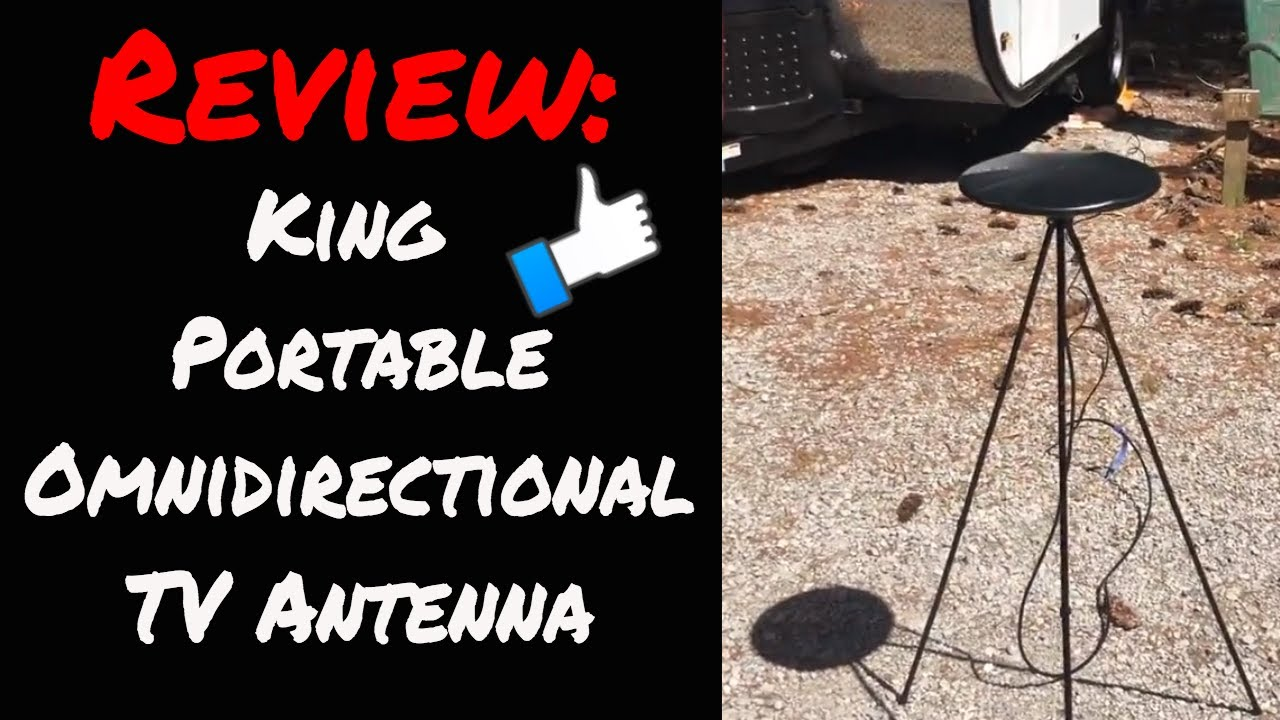 Review: King Omnidirectional Portable TV Antenna for RV's, Travel Trailers  and more!