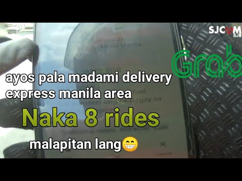 Grabexpress delivery manila area ang daming booking under co