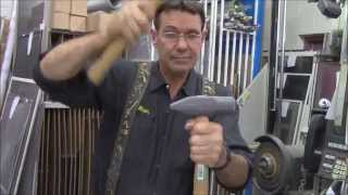 How to repair, replace wood handle on hammer, ax, sledge