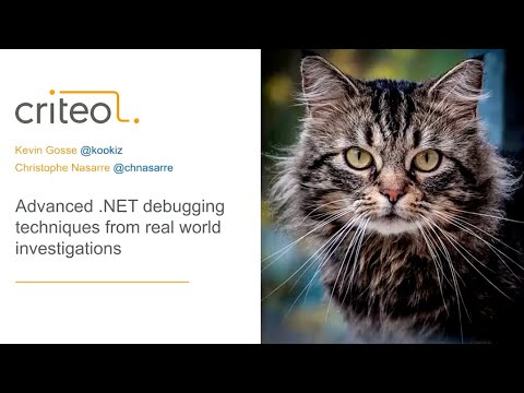 Advanced .NET Debugging Techniques From Real World Investigations - Christophe Nasarre And Kevin Gos